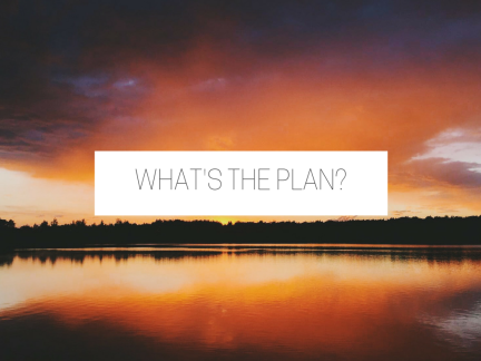 WHAT'S THE PLAN-